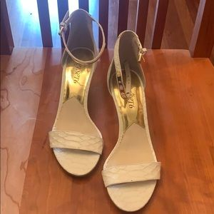 Michael Kors white heels. Worn only once!